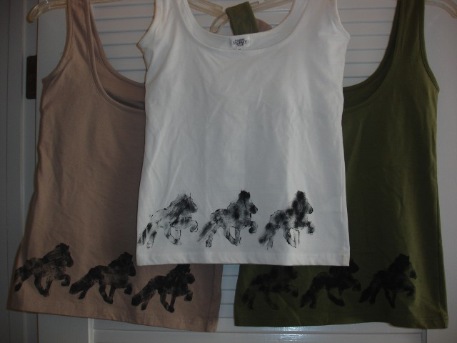 Shirt 9 - Silk Screen Tank Top Size M