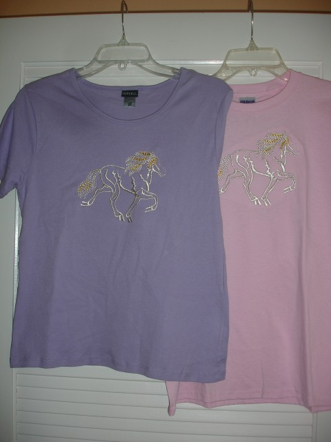 Shirt 16 - Embroidery Sizes S, M, L in Pink, M, L in Lavender